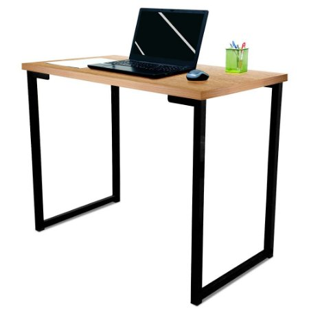 Mesa para Escritório Escrivaninha Estilo Industrial Nova York Mdf 100cm - Preta e Jade