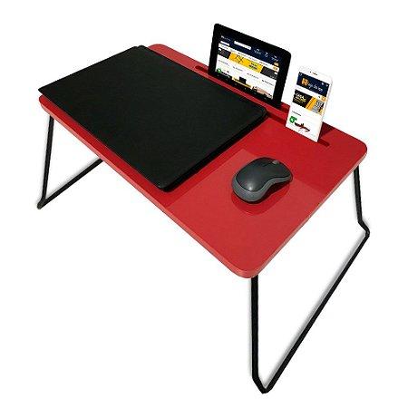 Suporte Mesa Multiuso Classic para Notebook Dobrável Vermelho