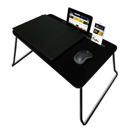 Suporte Mesa Multiuso Classic para Notebook Dobrável Preto