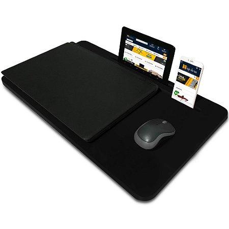 Suporte Mesa para Notebook Slim Tablet Celular para usar na Cama 56cm x 33cm Preto