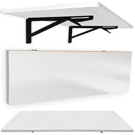 Mesa De Parede Dobrável Pérsia 90 X 45cm - Preto/Branco