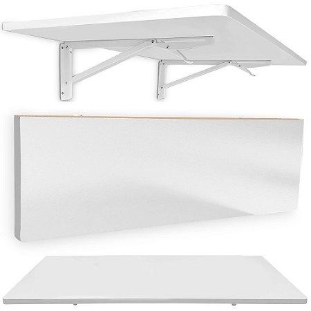 Mesa De Parede Dobrável Pérsia 90 X 45cm - Branco/Branca