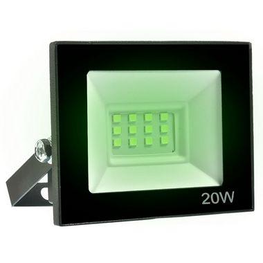 Refletor MicroLED Ultra Thin 20W Verde Black Type
