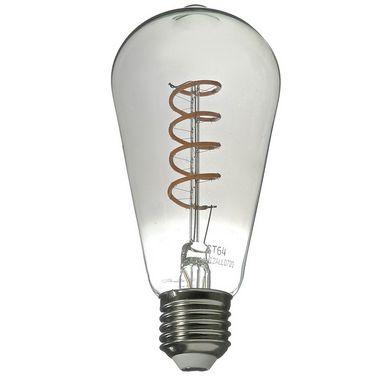 Lâmpada LED Pera 5w Vintage Fumê ST64 Branco Quente