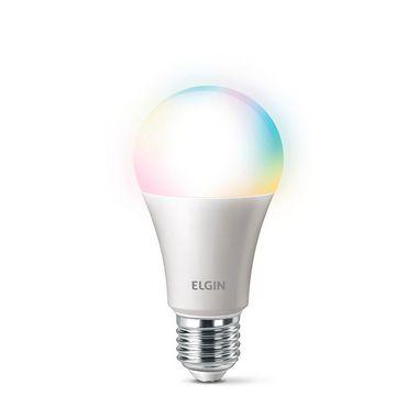Lâmpada LED Bulbo 10W RGB Bivolt Smart Compatível com Alexa   ELGIN