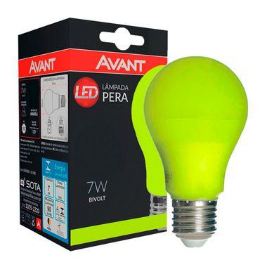 Lâmpada LED Bulbo 7W Residencial Amarela Bivolt E27   Inmetro
