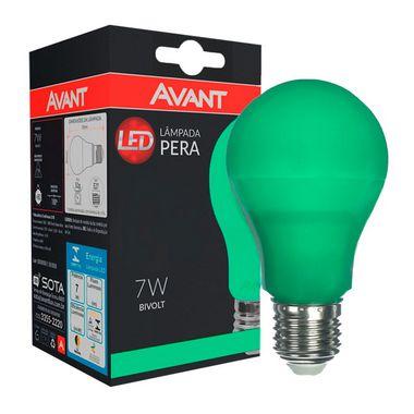 Lâmpada LED Bulbo 7W Residencial Verde Bivolt E27   Inmetro