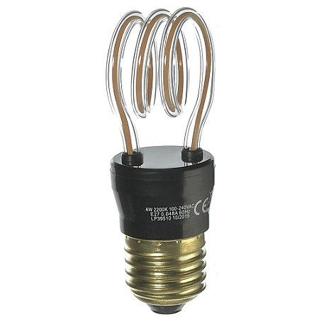Lâmpada LED Filamento Espiral 4W Branco Quente Bivolt E27