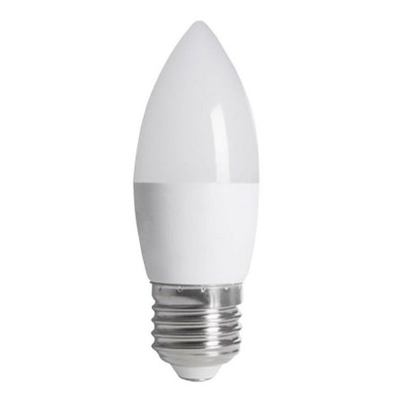 Lâmpada LED Vela Leitosa E27 3W Bivolt Branco Quente | Inmetro