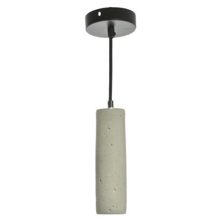 Pendente LED 5W Tubo Cimento Queimado