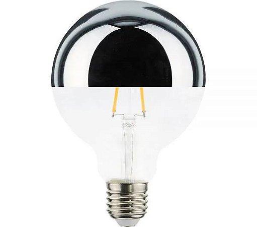 Lâmpada LED Defletora Vintage G95 6w Branco Quente