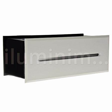 Balizador LED 3W De Embutir Retangular Branco Quente