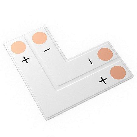 Conector PCB em L para Fita Led 10mm 2 Vias