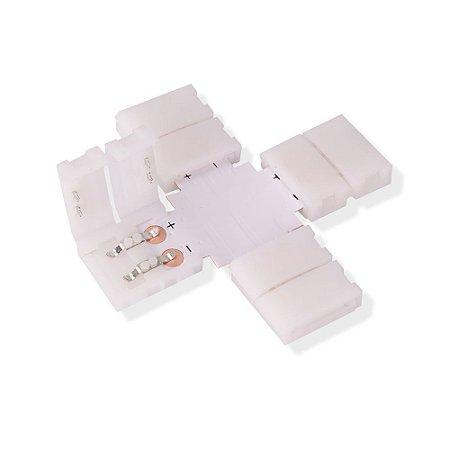 Emenda para Fita LED 5050 1 Cor em Cruz - 10mm