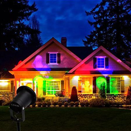 Espeto de Jardim Laser Projetor 5W Colorido Natal