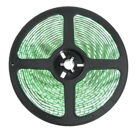 Fita LED 3528 Verde 5 Metros IP65 - À prova d'água - 24W
