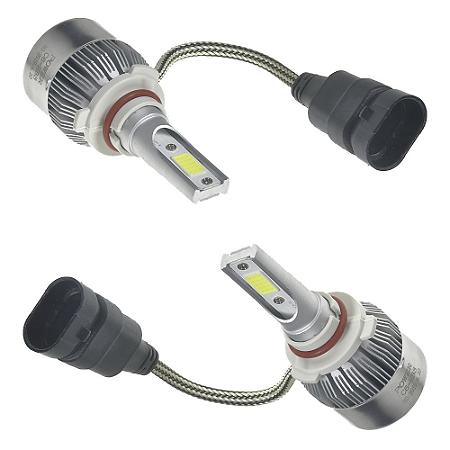 Kit Farol LED C6 HB3 Automotivo com Cooler 6500K