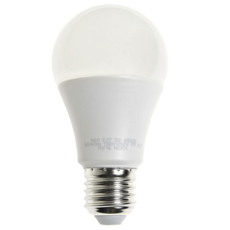 Lâmpada Bulbo LED A60 5W Bivolt Branca - Amarela   Inmetro