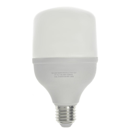 Lampada LED Alta Potencia 20W Bivolt Branco Frio   Inmetro
