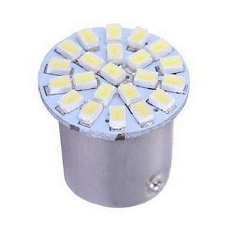 Lâmpada LED Automotiva BA15S 22 Leds 1 Polo 5W 12V Azul