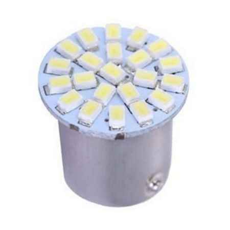 Lâmpada LED Automotiva BAY15D 22 Leds 2 Polos 5W 12V Branco Frio