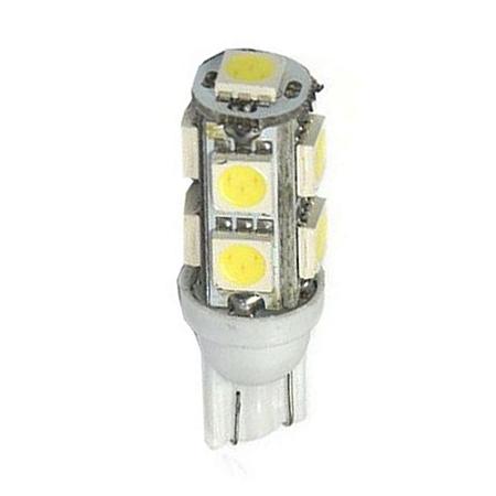 Lâmpada LED Automotiva T10 5W Pingo 9 Leds Branco Frio