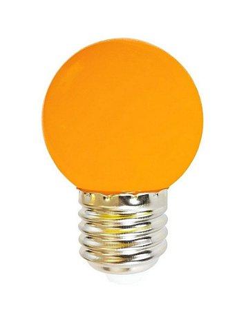 Lâmpada LED Bolinha 1w Laranja   Inmetro