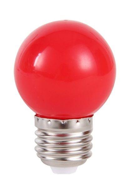 Lâmpada LED Bolinha 1w Vermelha   Inmetro