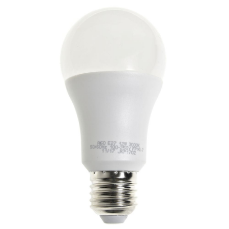 Lâmpada LED Bulbo 12W Residencial Branco Quente Bivolt | Inmetro
