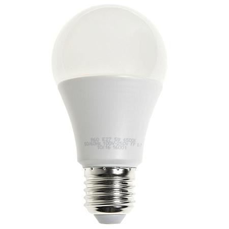 Lâmpada LED Bulbo 5W Residencial Branco Frio Bivolt   Inmetro