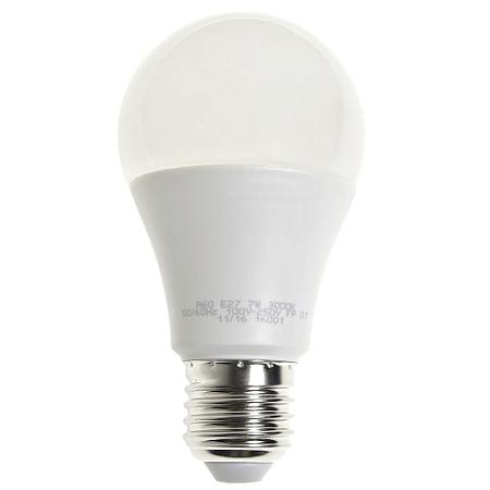 Lâmpada LED Bulbo 7W Residencial Branco Quente Bivolt | Inmetro
