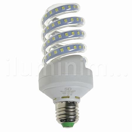 Lâmpada LED Espiral 16W Branca | Inmetro
