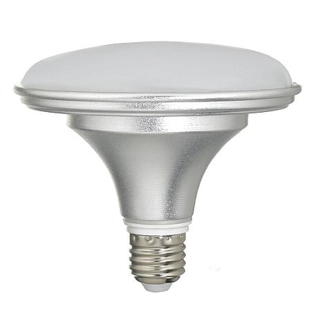 Lâmpada LED Prato 18W Bivolt Prateada Branco Neutro   Inmetro