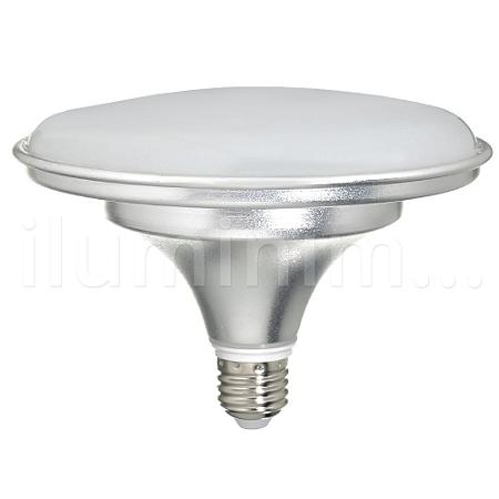 Lâmpada LED Prato 24W Bivolt Prateada Branco Frio  | Inmetro