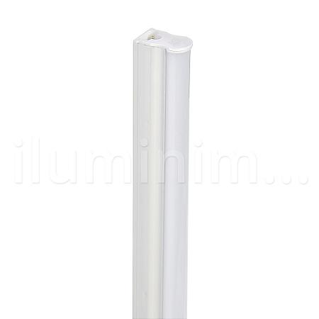 Lampada LED Tubular T5 9w - 60cm c/ Calha - Branco Frio   Inmetro
