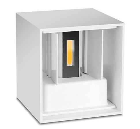 Luminária Arandela LED 10W Branco Quente Direcionável Cubo