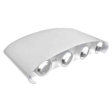 Luminária Arandela LED 24W Branco Quente Externa - Branca