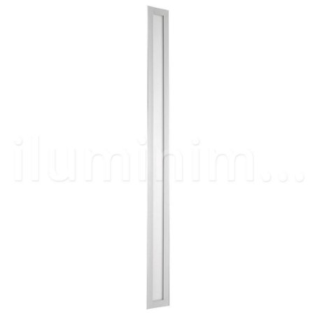 Luminária Plafon 10x120 36w LED Embutir Branco Neutro Borda Branca