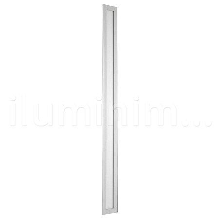 Luminária Plafon 10x120 36w LED Embutir Branco Quente Borda Branca