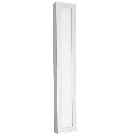 Luminária Plafon 10x60 18w LED Sobrepor Branco Frio Borda Branca