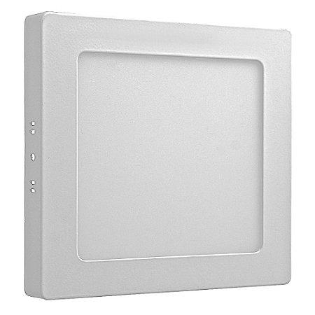 Luminária Plafon 12w LED Sobrepor Branco Neutro
