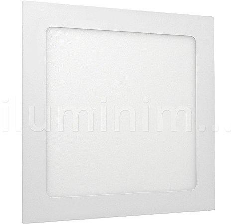 Luminária Plafon 18w LED Embutir Branco Frio