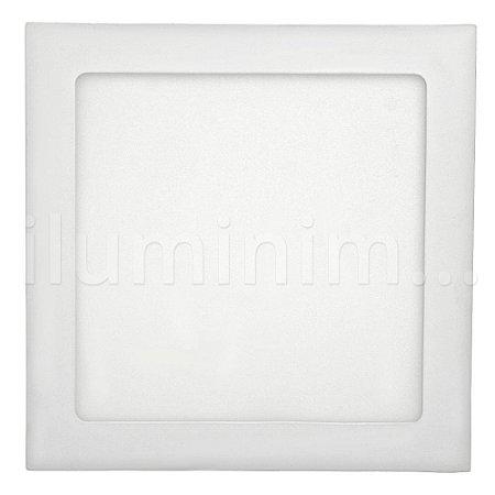 Luminária Plafon 18w LED Embutir Branco Quente