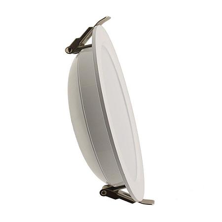 Luminária Plafon 18w LED Embutir Concavo Branco Frio