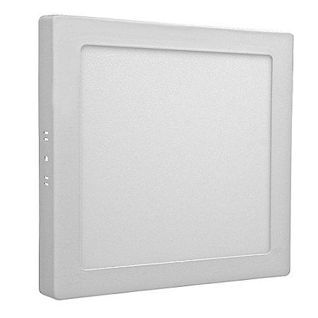 Luminária Plafon 18w LED Sobrepor Branco Quente