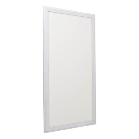 Luminária Plafon 30x60 24w LED Embutir Branco Quente Borda Branca