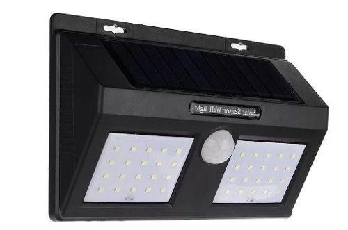Luminaria Solar LED Sensor de Movimento 12 Leds
