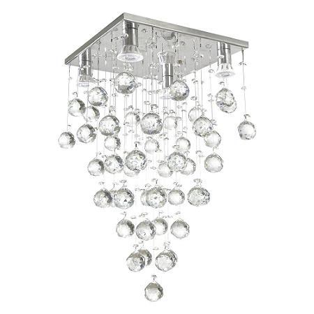 Lustre de Cristal K9 Pendente Quadrado 30x60