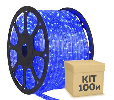 Mangueira LED Azul 100 metros 220v Ultra Intensidade - À prova d'água