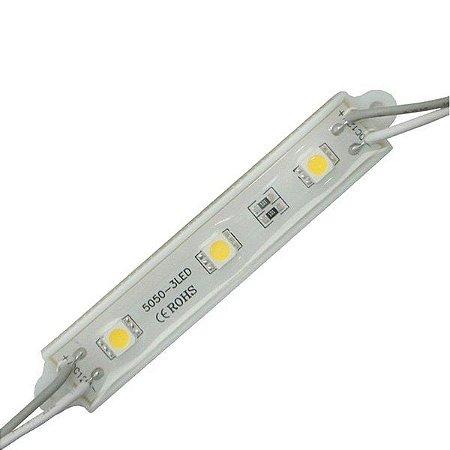 Módulo de LED 5050-SMD 3 LEDs Branco Quente